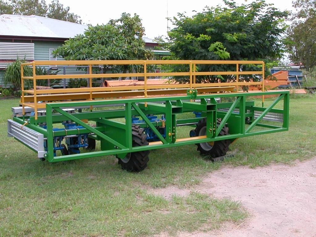 Transplanter with Seedling Rack